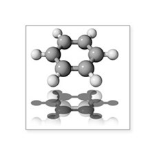 Benzene molecule - Square Sticker 3