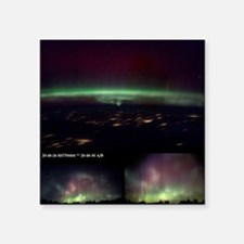 Aurora Borealis from Earth and space - Square Stic