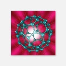 Buckminsterfullerene molecule, artwork - Square St