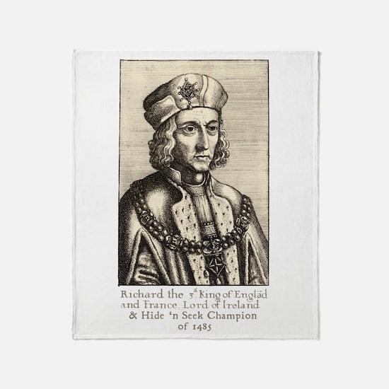 Richard III: Hide 'n Seek Champion Throw Blanket
