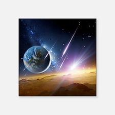 Earth-like planet, artwork - Square Sticker 3