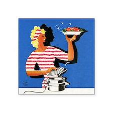 Electric cooker, 1940s artwork - Square Sticker 3