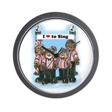 Barbershop Harmony Wall Clock