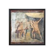 Forge of Hephaistos, Roman fresco - Square Sticker