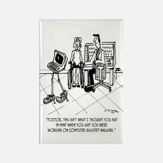 Disability Cartoon 1795 Rectangle Magnet