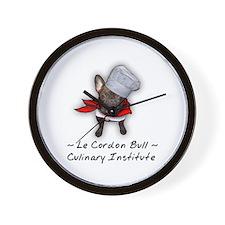 Le Cordon Bull Wall Clock