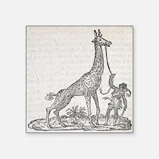 Giraffe, 16th century artwork - Square Sticker 3