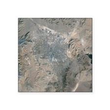 Las Vegas, satellite image, 2009 - Square Sticker