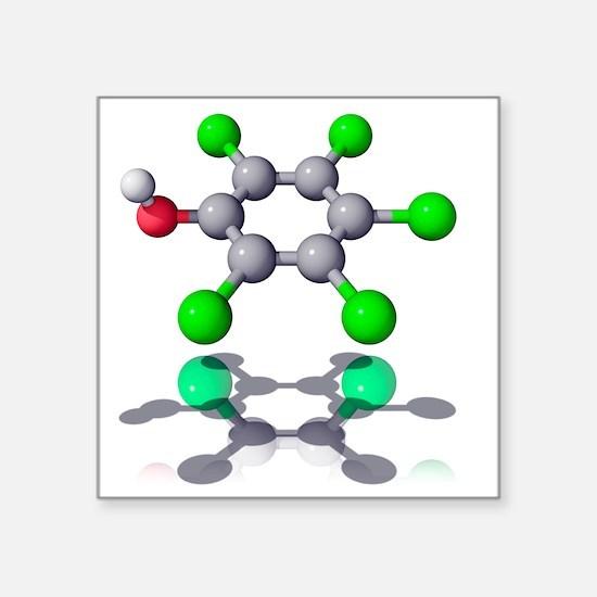 Pentachlorophenol fungicide molecule - Square Stic