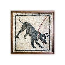 Roman guard dog mosaic - Square Sticker 3