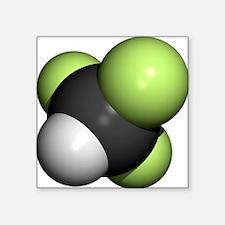 Trifluoromethane molecule - Square Sticker 3