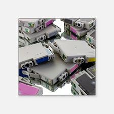 Used printer cartridges - Square Sticker 3