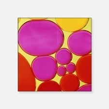 Water droplets and engine oil - Square Sticker 3