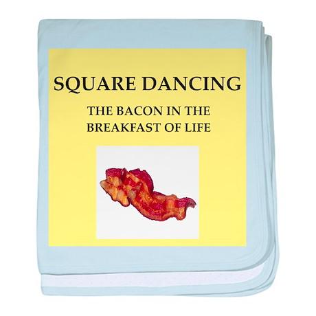 square dancing baby blanket