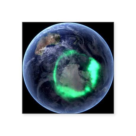 Aurora over Antarctica, satellite image - Square S