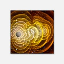 Black holes merging - Square Sticker 3