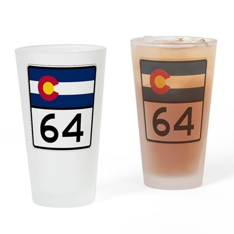Highway C64 Drinking Glass