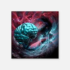 Brain research, conceptual artwork - Square Sticke