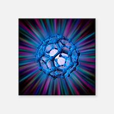 Buckyball molecule, artwork - Square Sticker 3