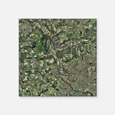 Cardiff, aerial photograph - Square Sticker 3