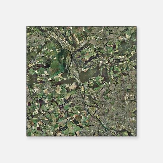 Cardiff, aerial photograph - Square Sticker 3