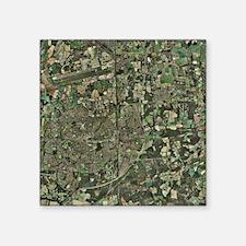 Crawley, UK, aerial image - Square Sticker 3