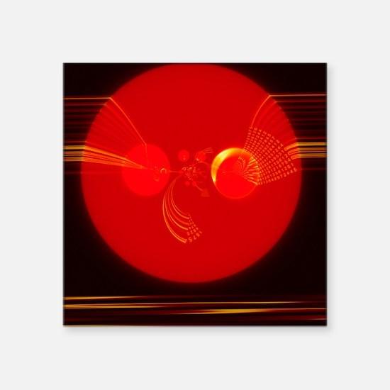Computer virus, conceptual artwork - Square Sticke