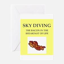 sky diving Greeting Card