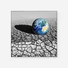Global warming, conceptual artwork - Square Sticke