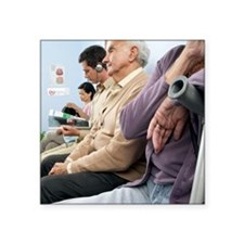 General practice waiting room - Square Sticker 3