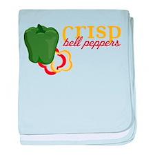 Crisp Bell Pepper baby blanket