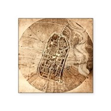 Historical city map of Imola, Italy - Square Stick