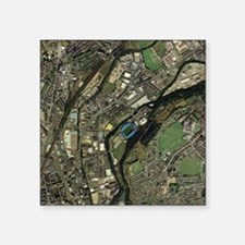 Huddersfield, UK, aerial image - Square Sticker 3