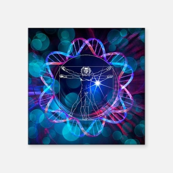 Human genome, conceptual artwork - Square Sticker