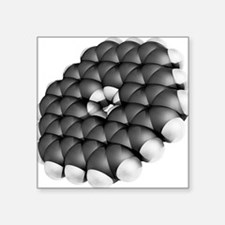 Kekulene hydrocarbon molecule - Square Sticker 3