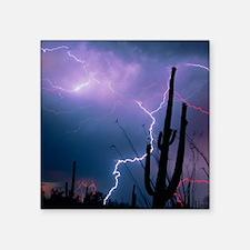 Lightning storm over Tucson, Arizona - Square Stic