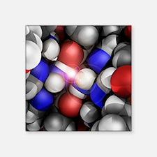 Molecular model, artwork - Square Sticker 3