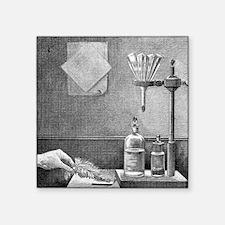 Nitrogen triiodide, 19th century - Square Sticker
