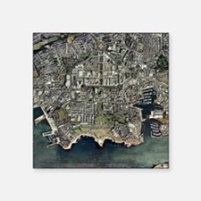 Plymouth, UK, aerial image - Square Sticker 3