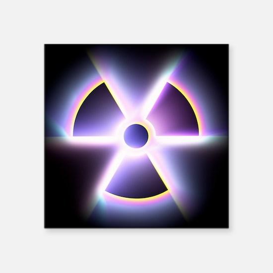 Radiation warning sign - Square Sticker 3