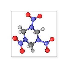 RDX explosive molecule - Square Sticker 3