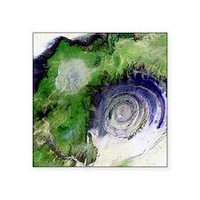 Richat Structure, satellite image - Square Sticker