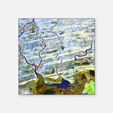 Saharan desert rivers, satellite image - Square St
