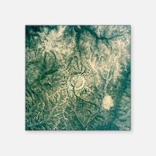 Satellite radar image of Gora Konder impact crater