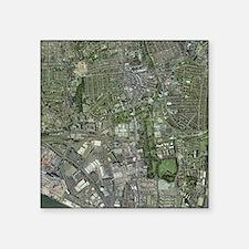 Southampton,UK, aerial image - Square Sticker 3
