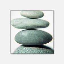 Stacked pebbles - Square Sticker 3