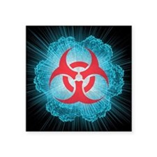 Biohazard symbol and virus - Square Sticker 3