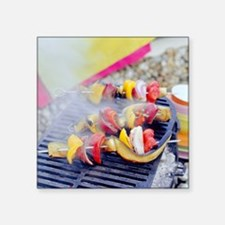 Barbecuing vegetables - Square Sticker 3