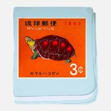 1965 Ryukyu Islands Turtle Postage Stamp baby blan