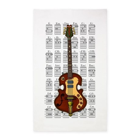 KuuMa Guitar 06 3'x5' Area Rug